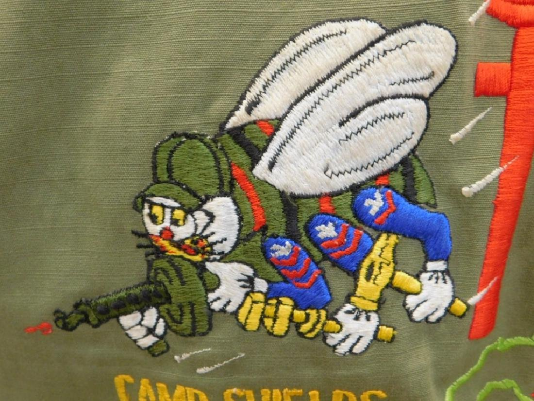 Vietnam War Navy Shirt With CB's Embroidered Back - 6