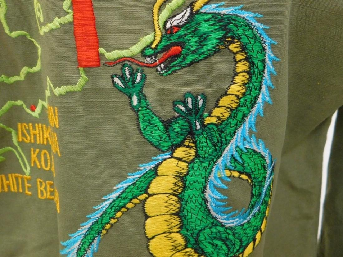 Vietnam War Navy Shirt With CB's Embroidered Back - 7