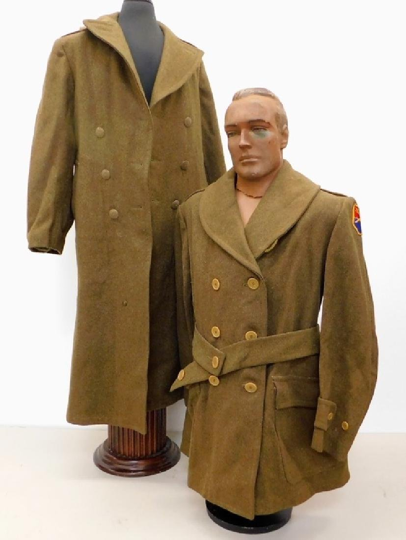 WWII U.S. Army Winter Wool Coats 1) Officers
