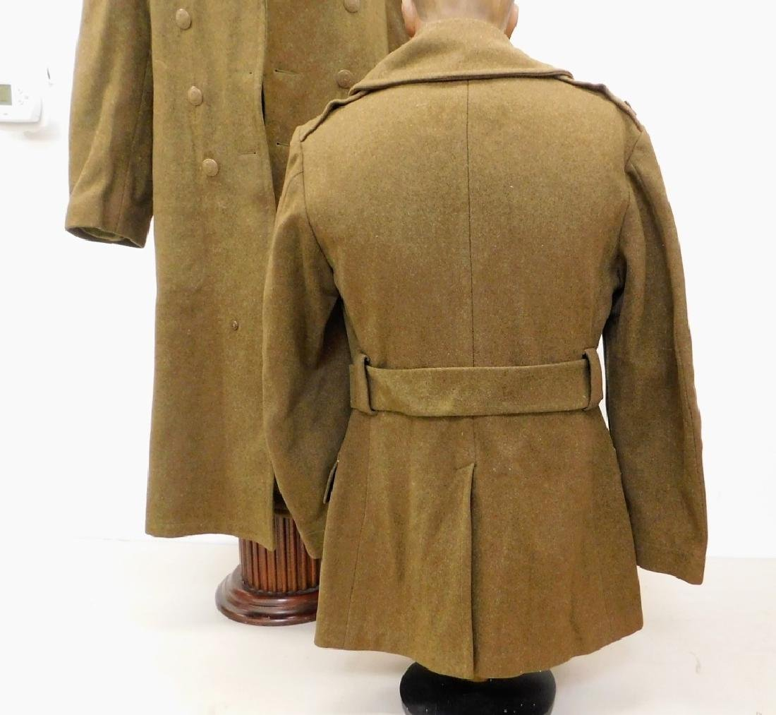 WWII U.S. Army Winter Wool Coats 1) Officers - 5