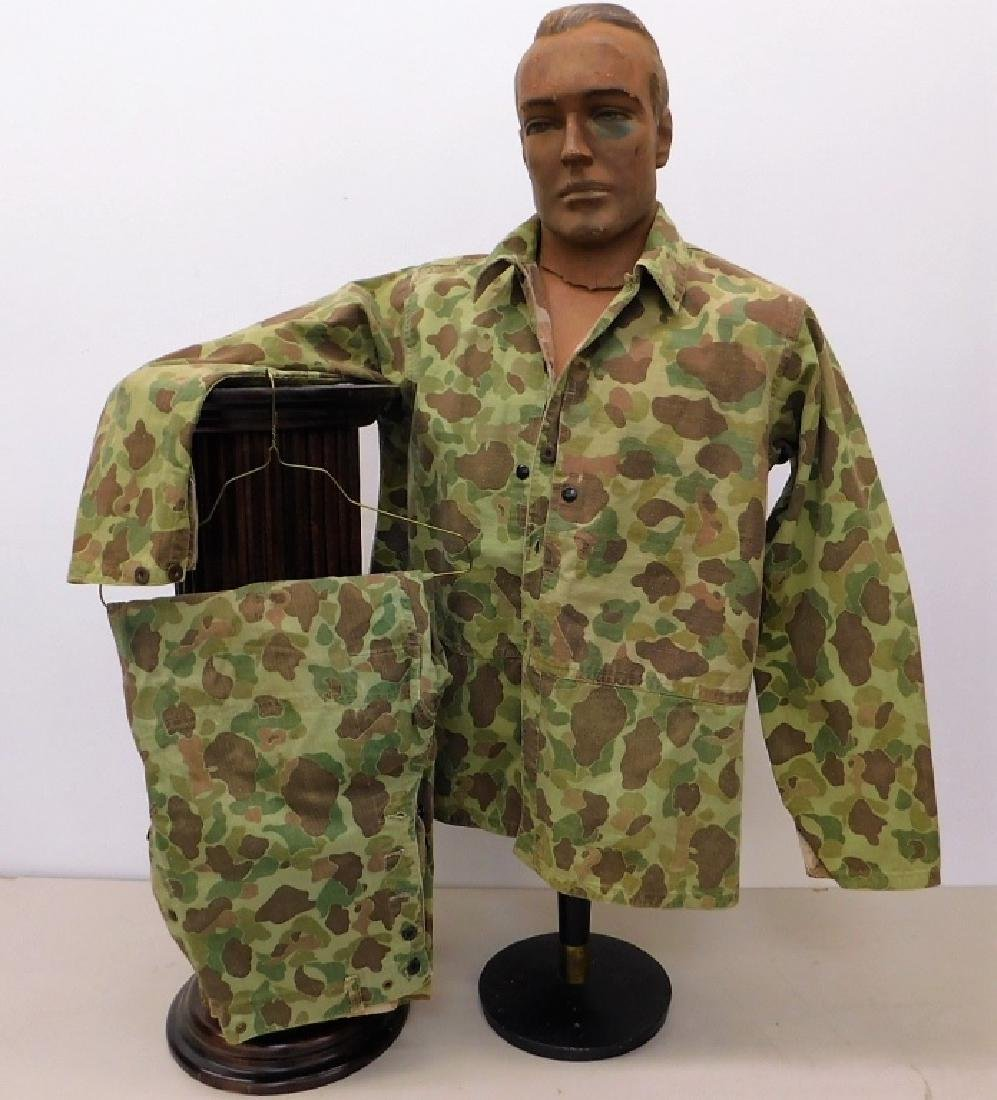 WWII Marine Corps Camouflage HBT Shirt & Pants