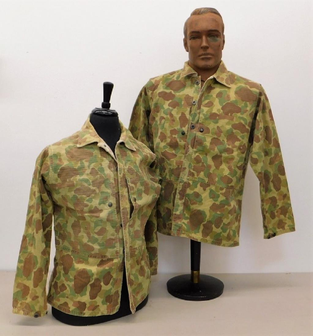 WWII Marine Corps Camouflage HBT Shirts (2)
