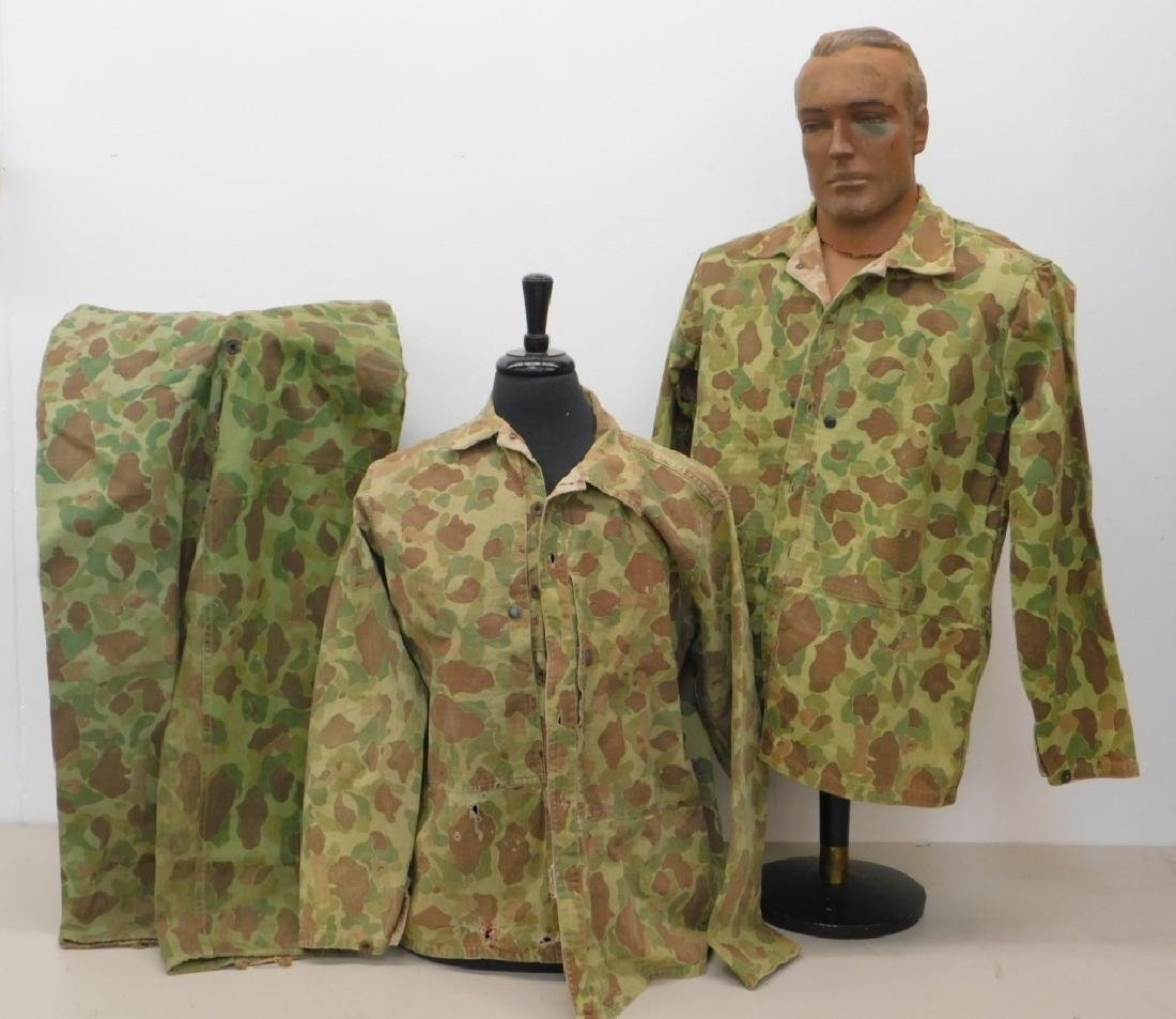 WWII Marine Corps Camouflage HBT Shirts & Pants