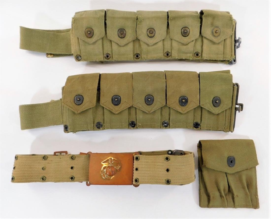 WWII Marine Corps Ammunition Belts & Pouch