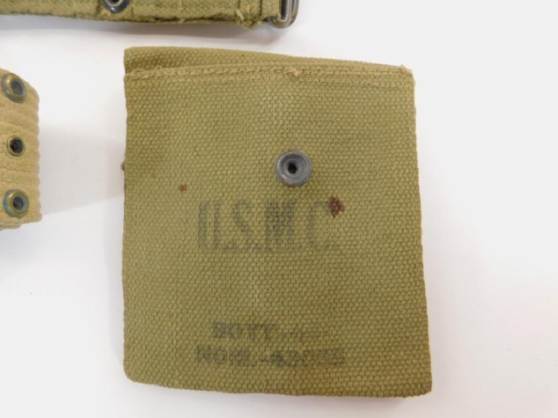 WWII Marine Corps Ammunition Belts & Pouch - 3