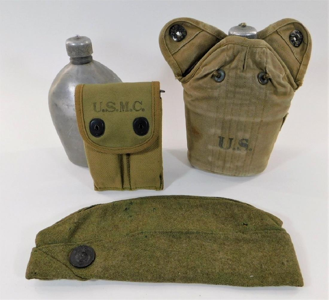 WWI U.S. Marine Corps Canteens / Pouch / Hat