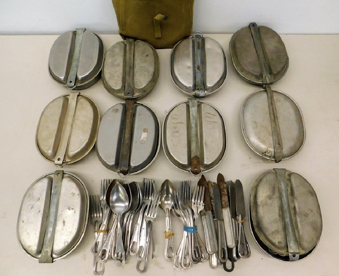 WWII U.S. Army Mess Kits and Utensils