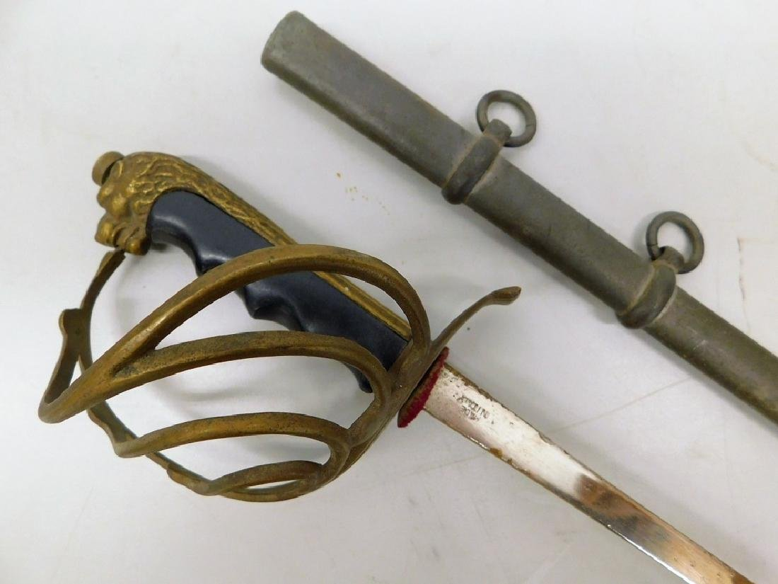 WWI Style Child's Sword with Lion Head Pommel