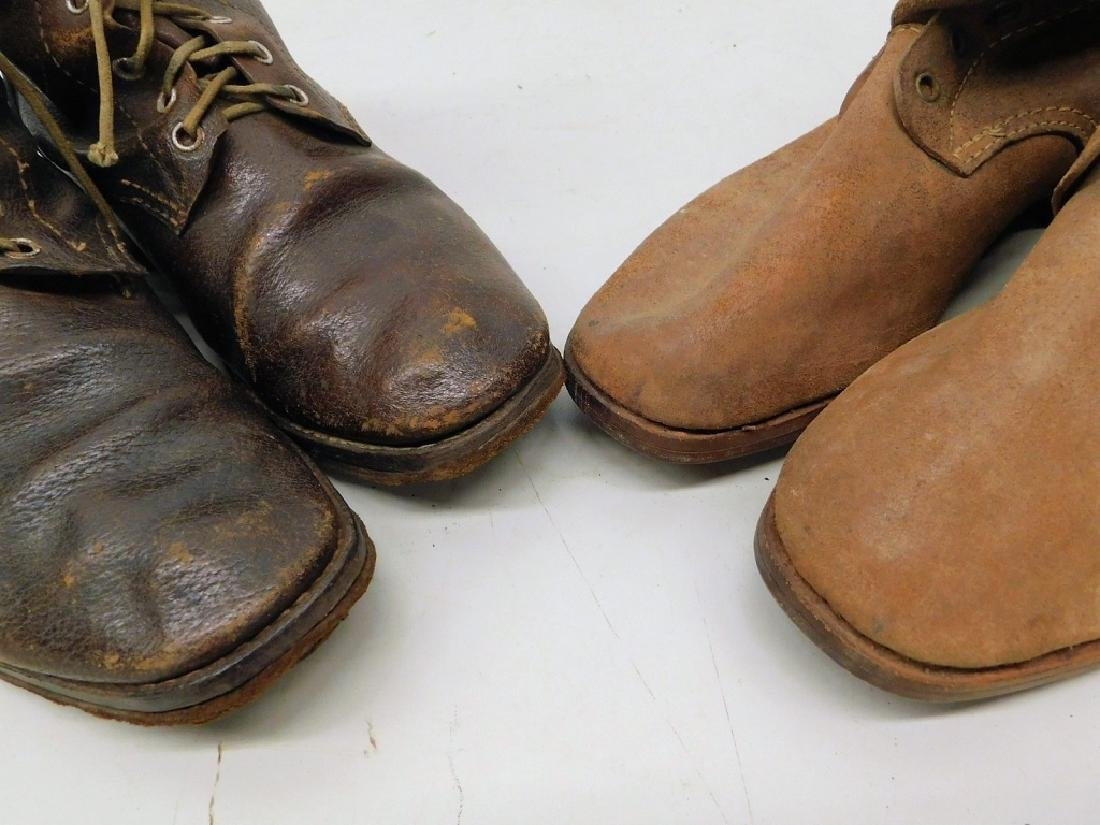 WWII Imperial Japanese Army Leather Combat Boots - 5