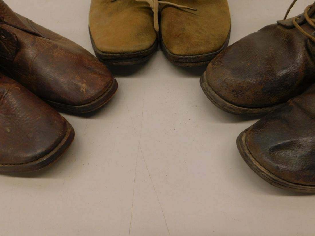 WWII Imperial Japanese Army Leather Combat Boots - 6