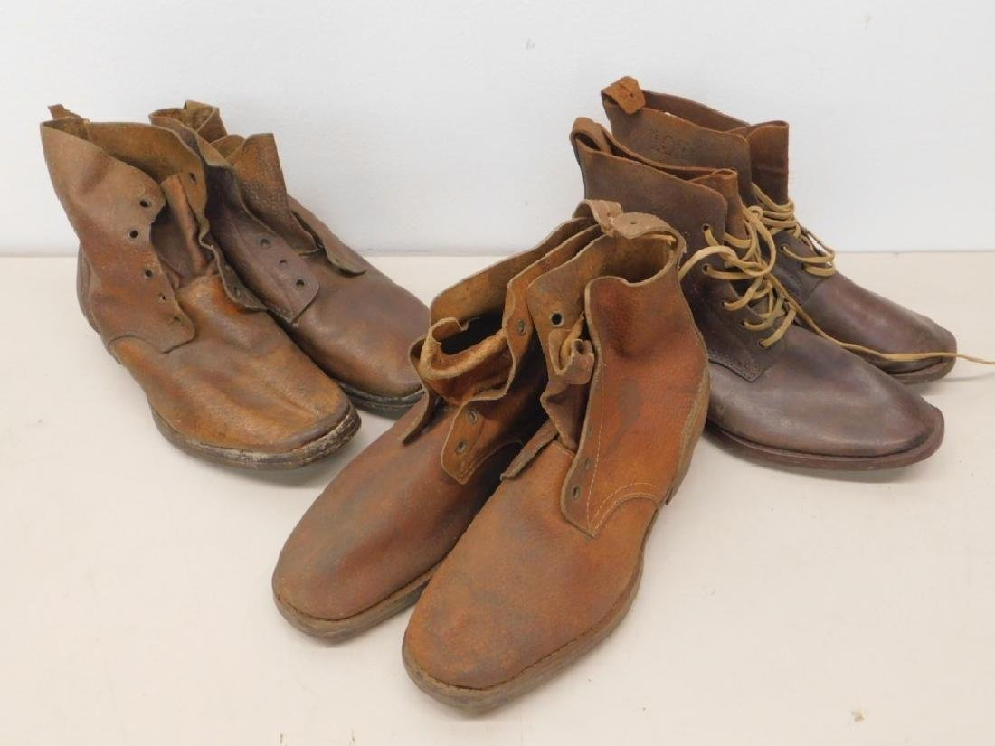 WWII Imperial Japanese Army Leather Combat Boots