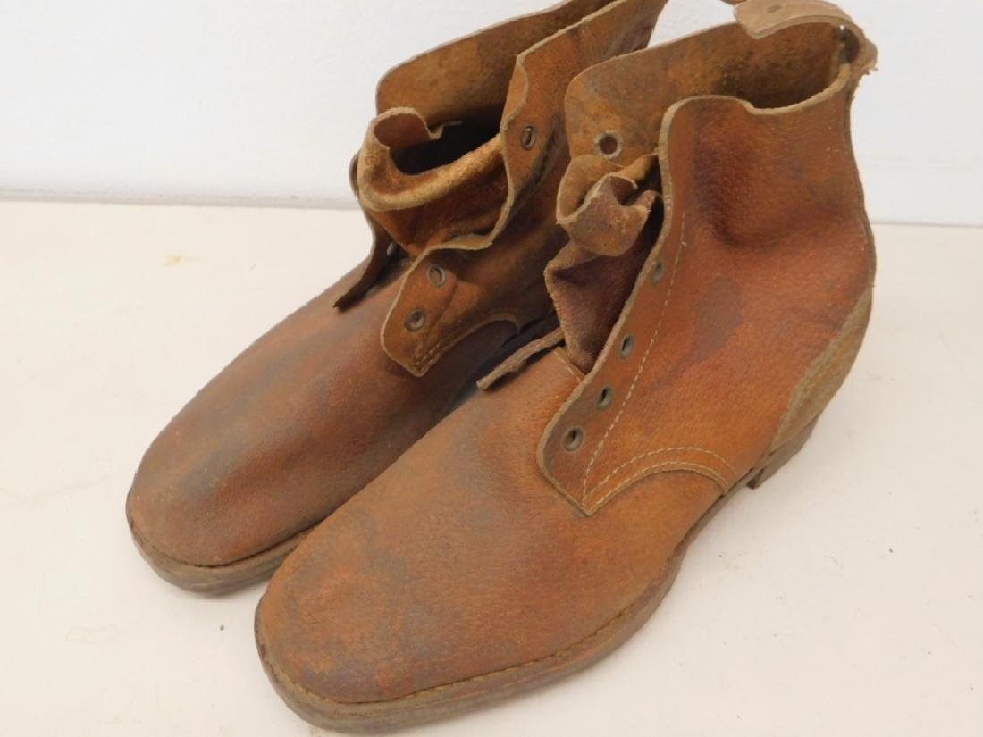 WWII Imperial Japanese Army Leather Combat Boots - 3