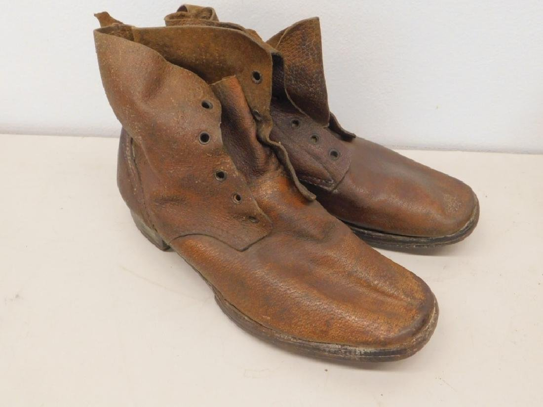WWII Imperial Japanese Army Leather Combat Boots - 4