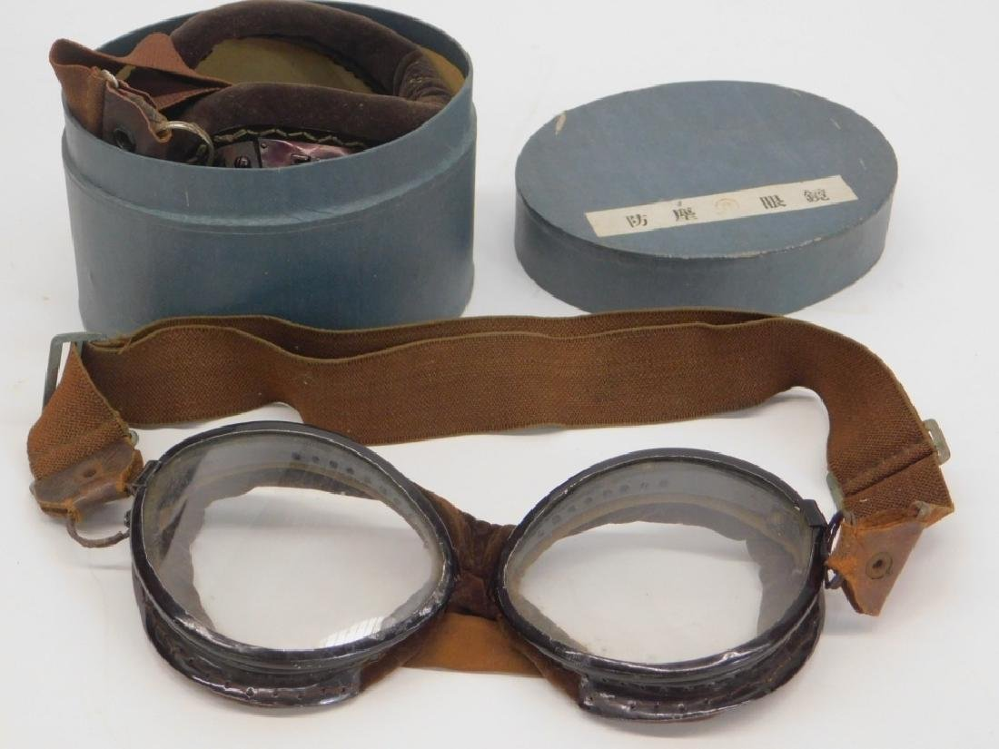 WWII Japanese Pilots Goggles in Case (2)
