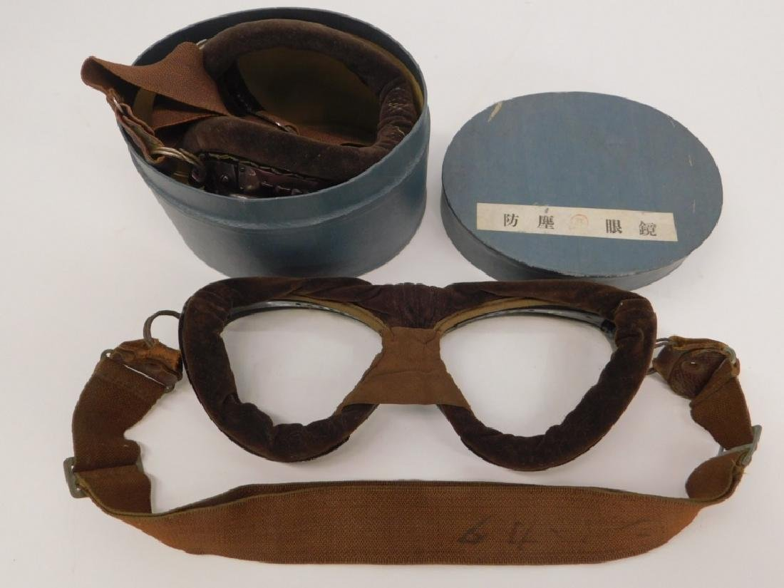 WWII Japanese Pilots Goggles in Case (2) - 3