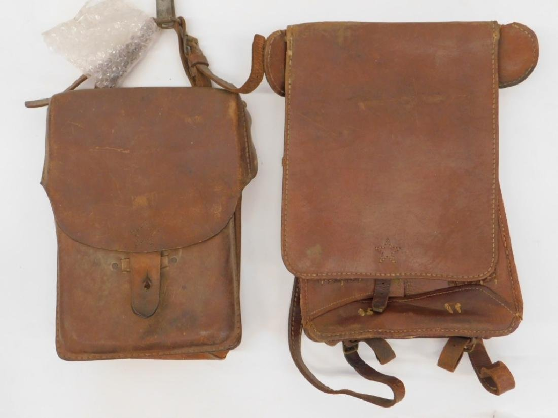WWII Japanese Leather Map and Dispatch Cases (2)