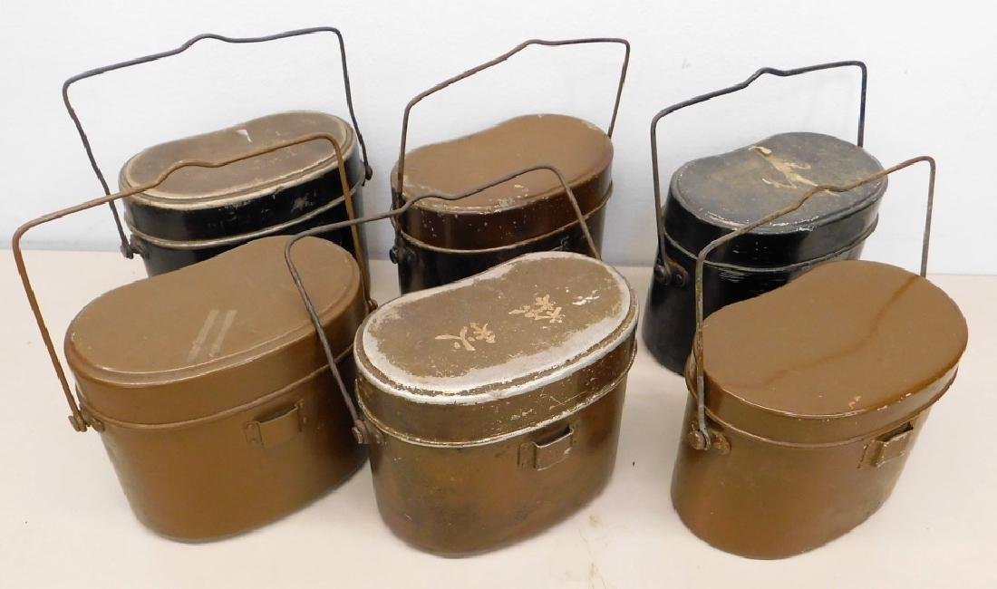 """WWII Japanese Mess Kits """"Rice Cookers"""" (6)"""