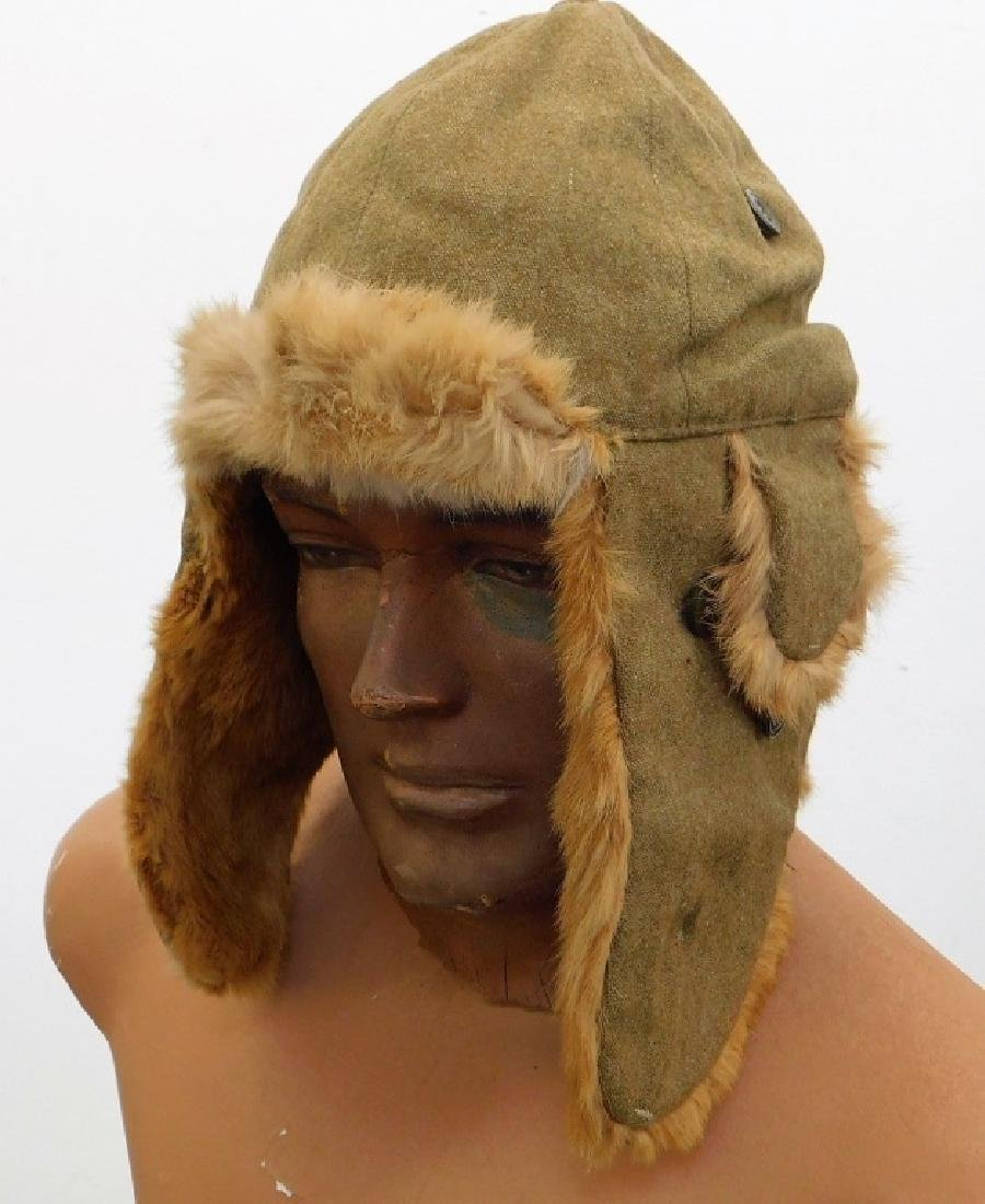 WWII Japanese Army Winter Fur Cap No Star