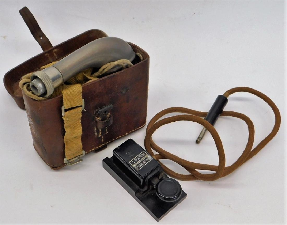 WWII Japanese Lineman's Phone and Telegraph Key