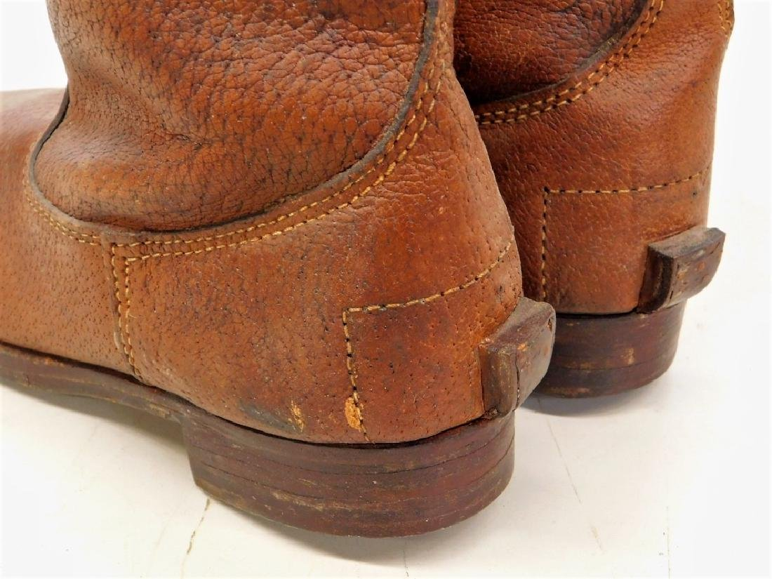 WWII Japanese Leather Cavalry Boots - 5
