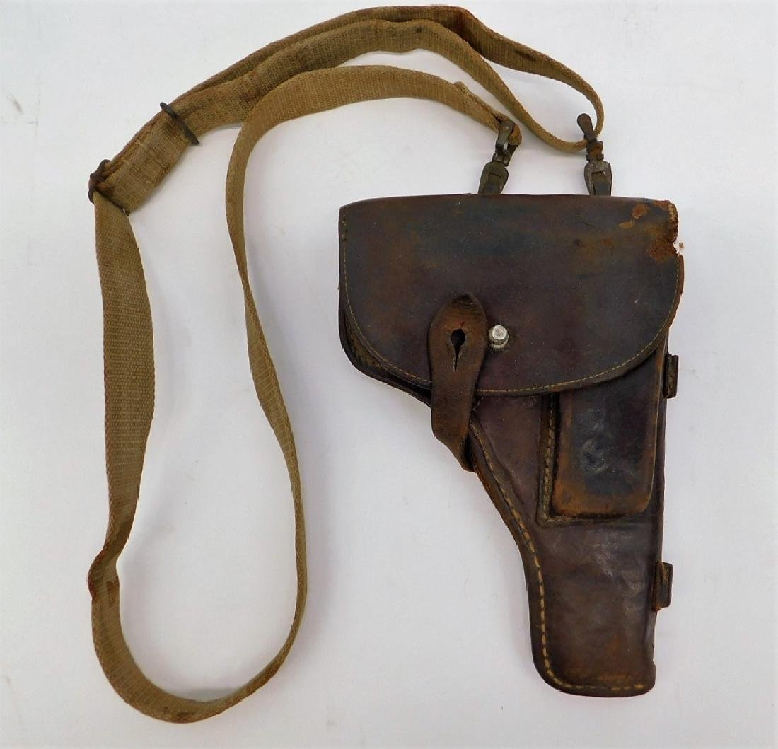 WWII German PPK Leather Holster with Should Strap