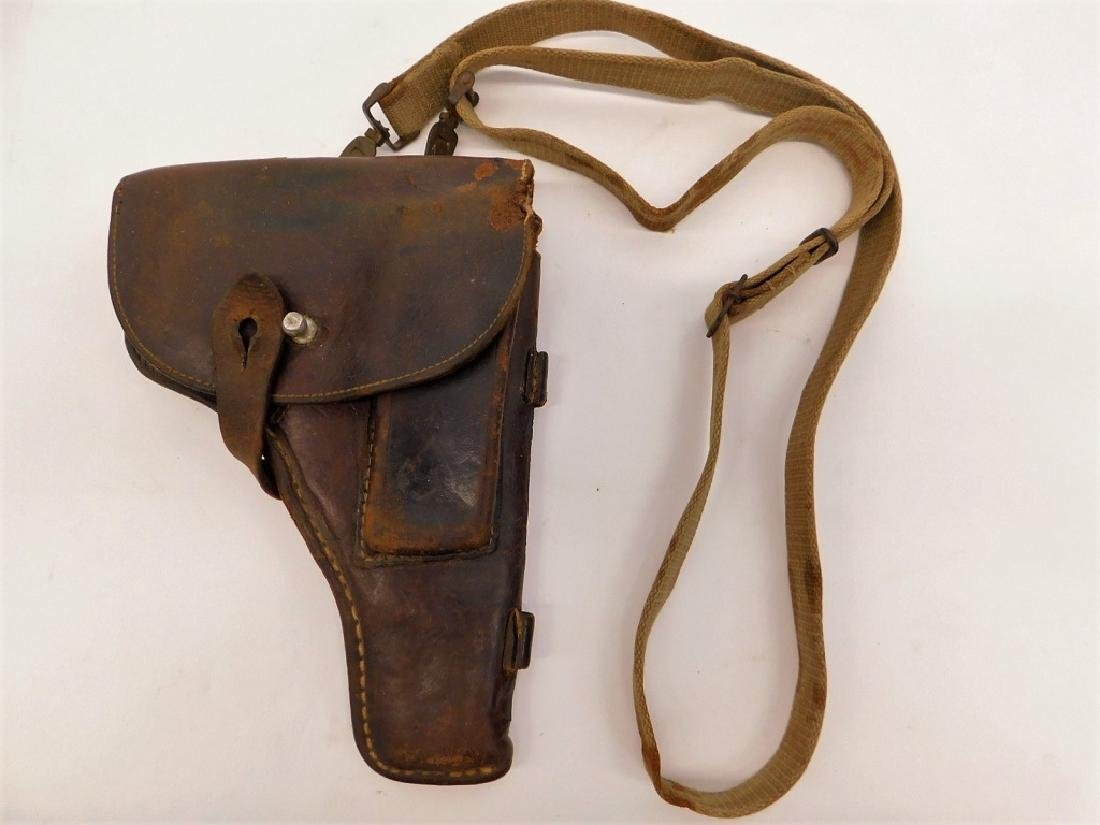 WWII German PPK Leather Holster with Should Strap - 2