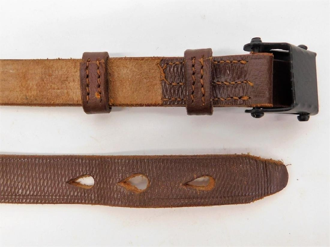 WWII German Leather Rifle Sling - 3