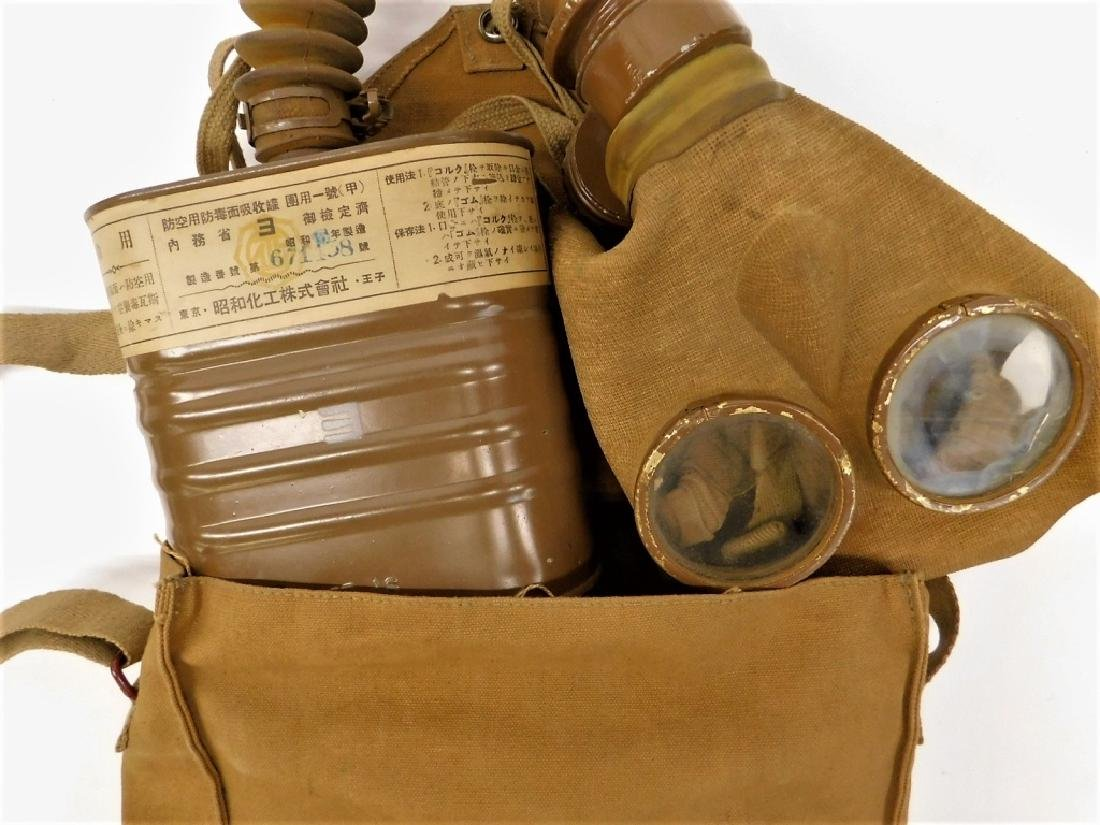 WWII Japanese Navy Gas Mask Bag & Booklet