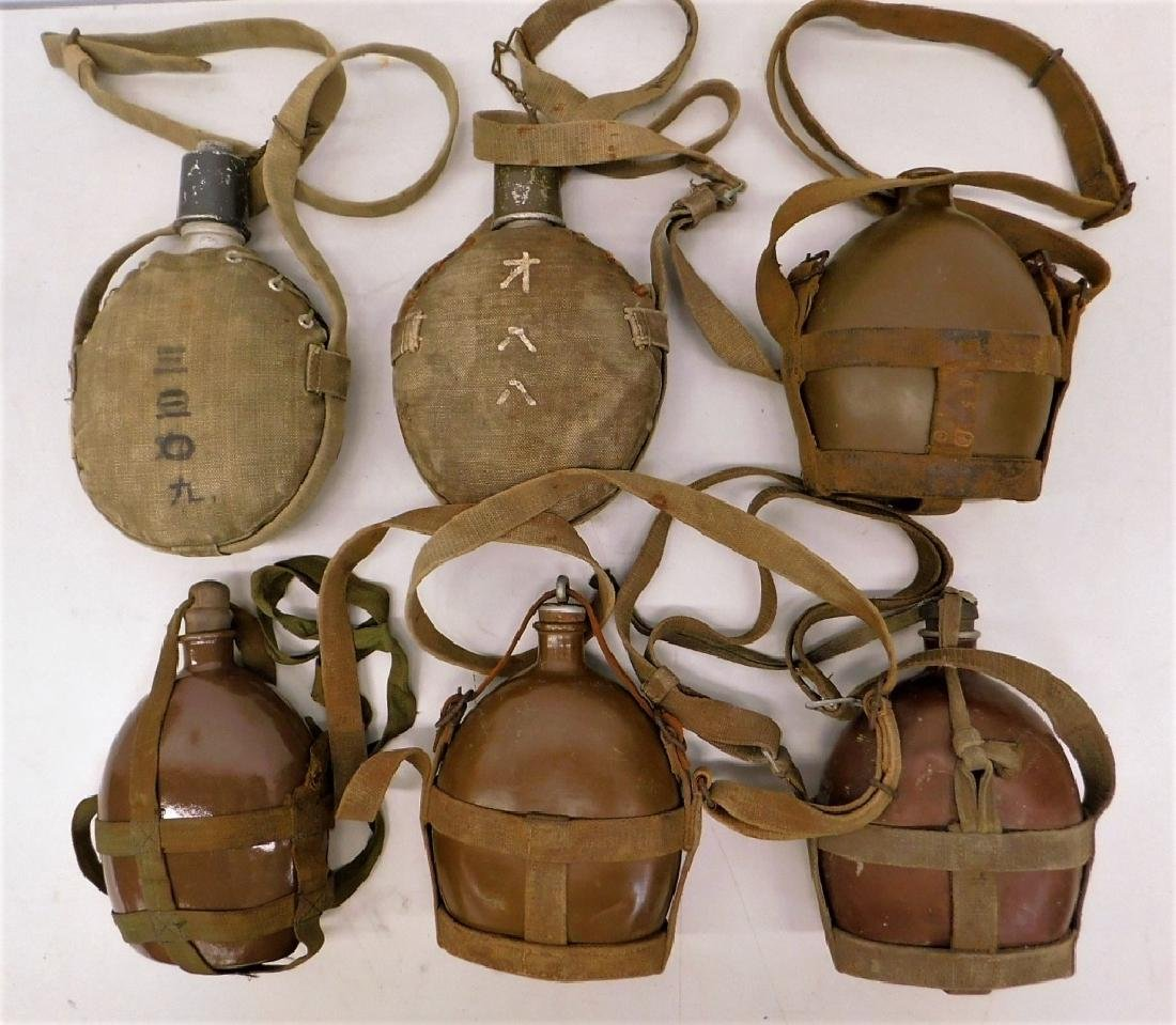 WWII Japanese Army & Navy Canteens (6)