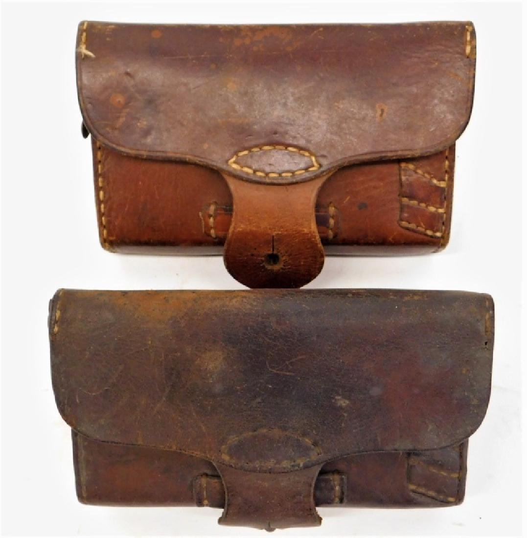 WWII Japanese Cavalry Leather Ammo Pouches (2)