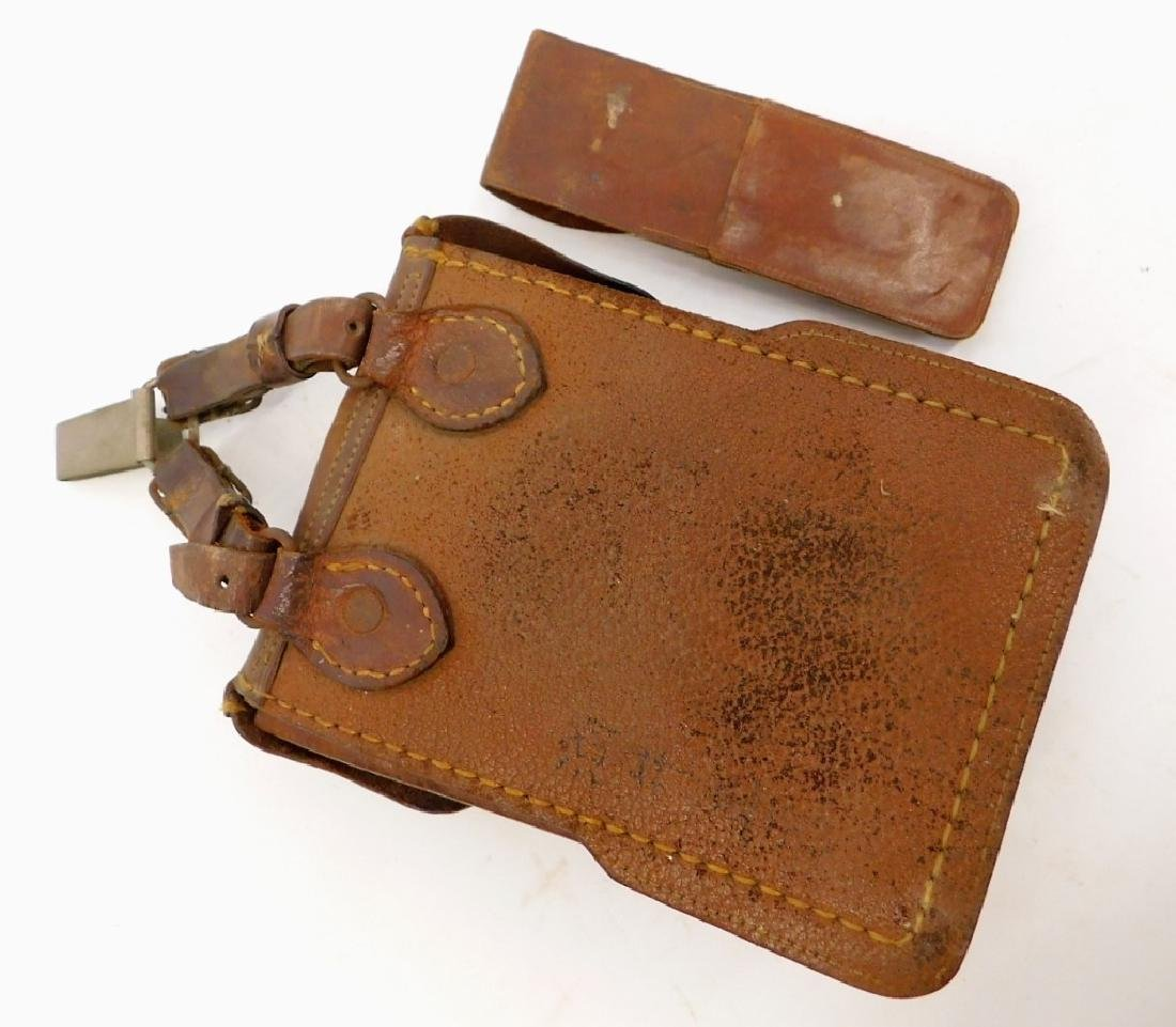 WWII Japanese Army Leather Dispatch/ Map Case - 4