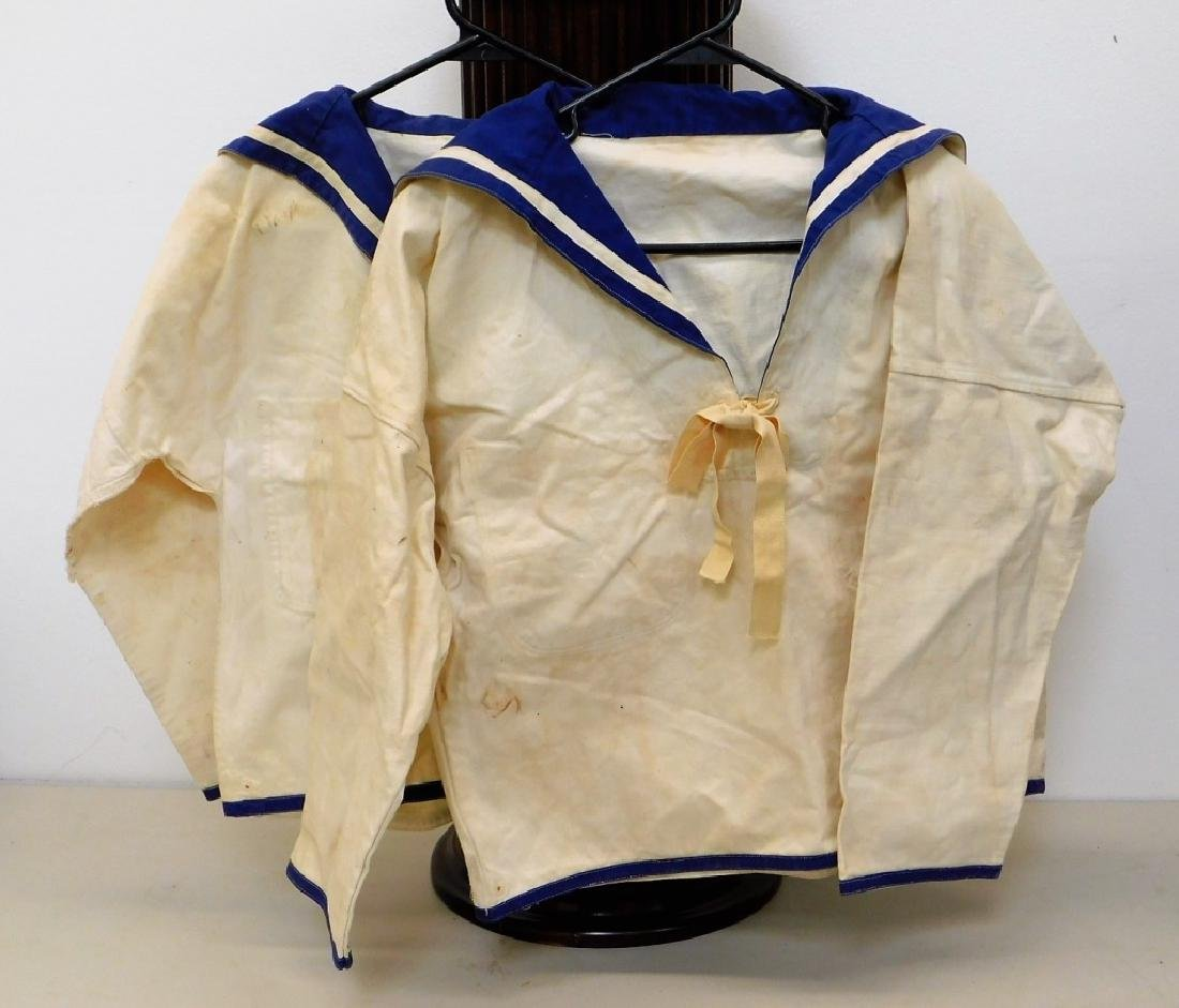 (2) WWII Japanese Navy Pull Over Shirts