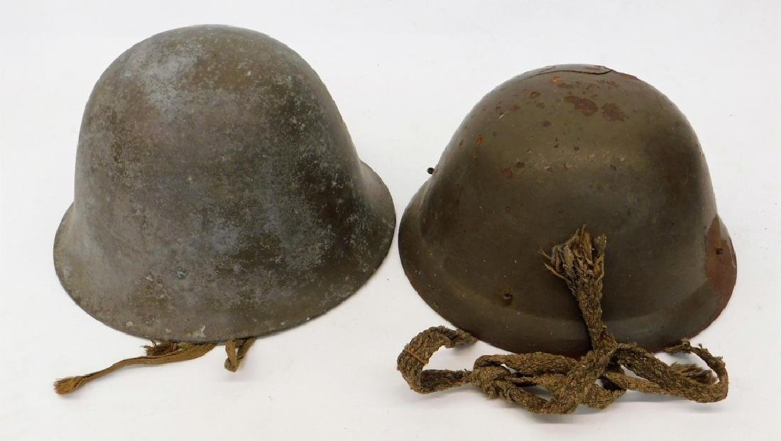 WWI - WWII Japanese Helmets with Mon