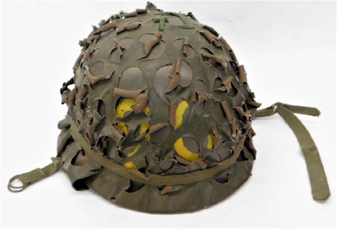 French Paratroopers Helmet w/ Camo Cover