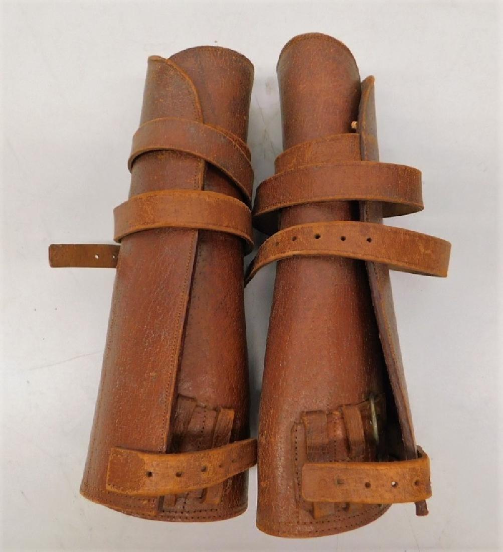 WWII Japanese Pattern 1903 Leather Leggings