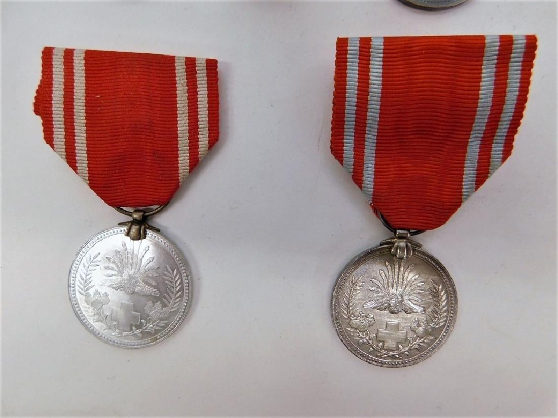 WWII Japanese Red Cross Merit Medals & Rosette 4 - 2