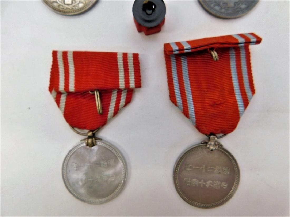 WWII Japanese Red Cross Merit Medals & Rosette 4 - 3