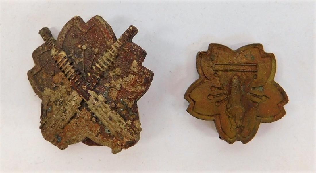 WWII Japanese Machine Gunners Wagon Drivers Badges