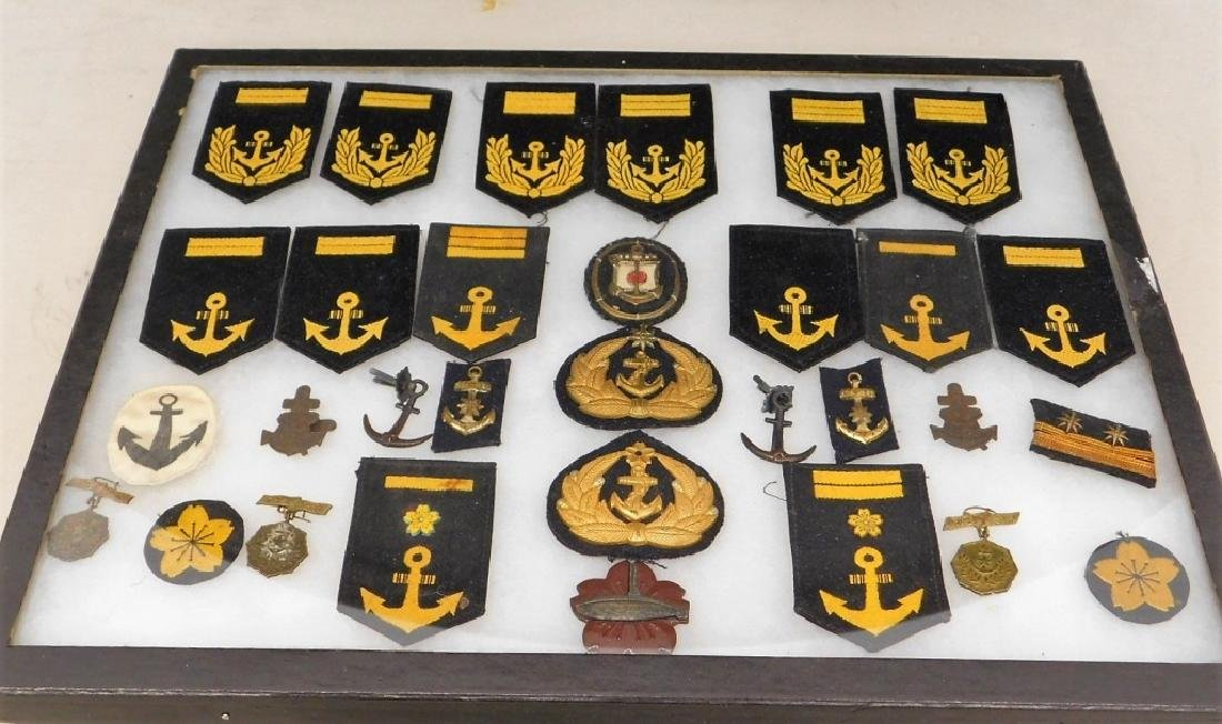 WWII Japanese Naval Insignia/ Hat Badges
