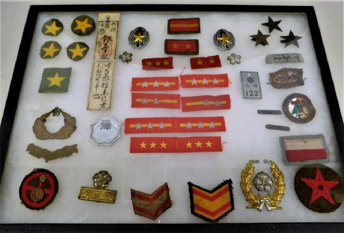 WWII Japanese Army Insignia & Helmet Stars