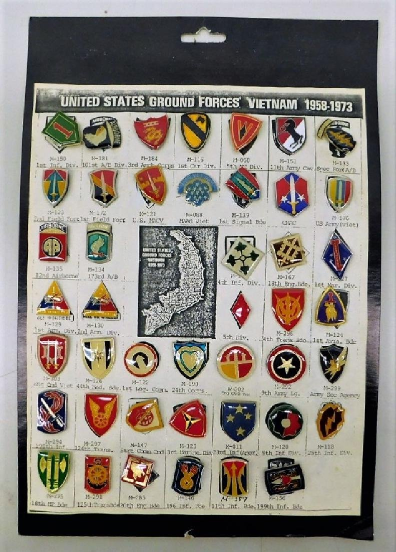 Vietnam War US Military Pins for Units in Vietnam