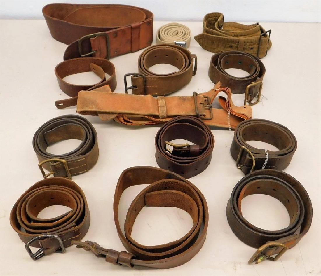 WWII Japanese Leather Belts- Navy Soft Belt