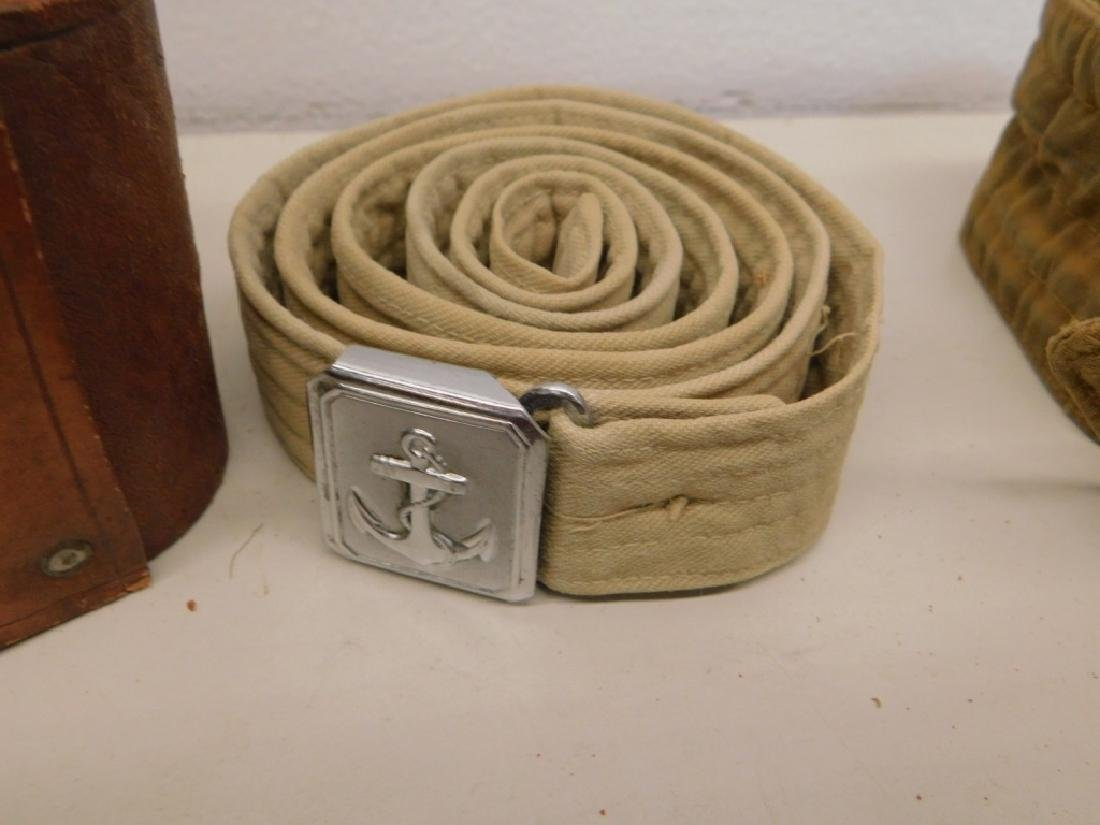 WWII Japanese Leather Belts- Navy Soft Belt - 2
