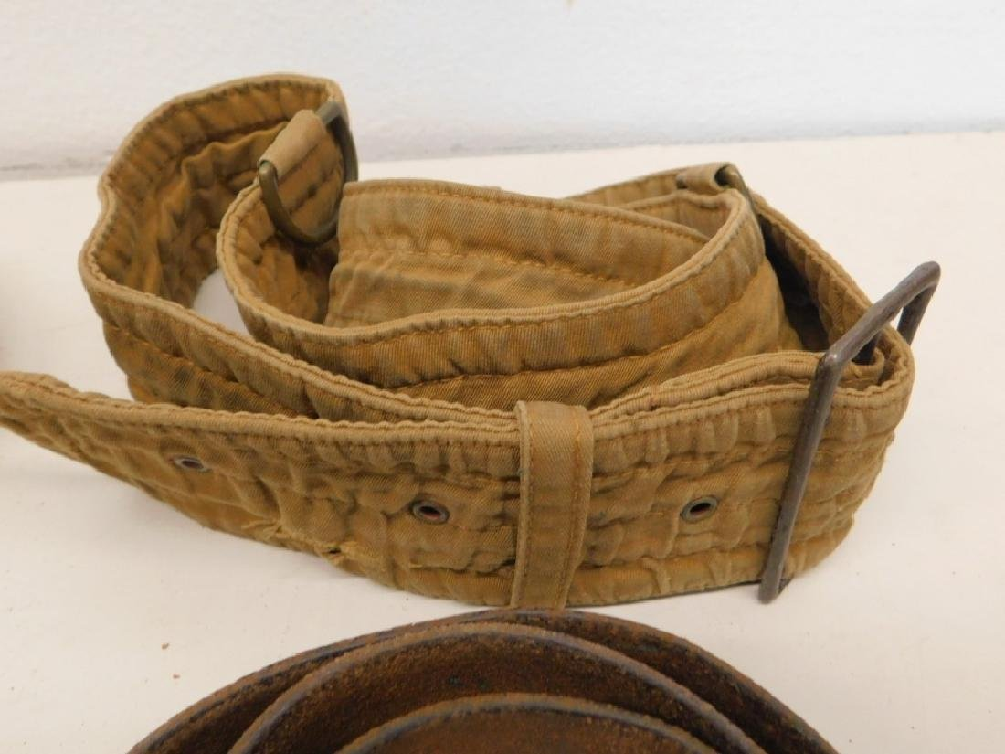WWII Japanese Leather Belts- Navy Soft Belt - 3