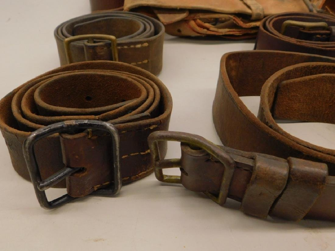 WWII Japanese Leather Belts- Navy Soft Belt - 4