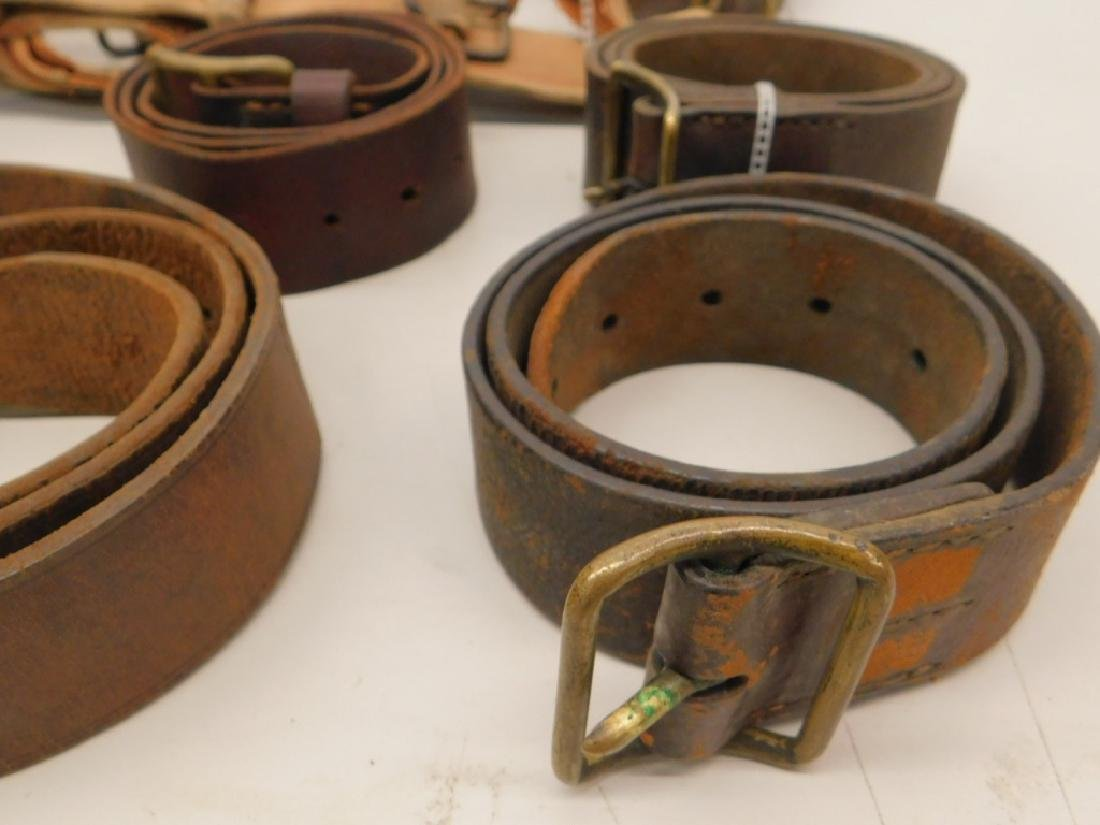 WWII Japanese Leather Belts- Navy Soft Belt - 5