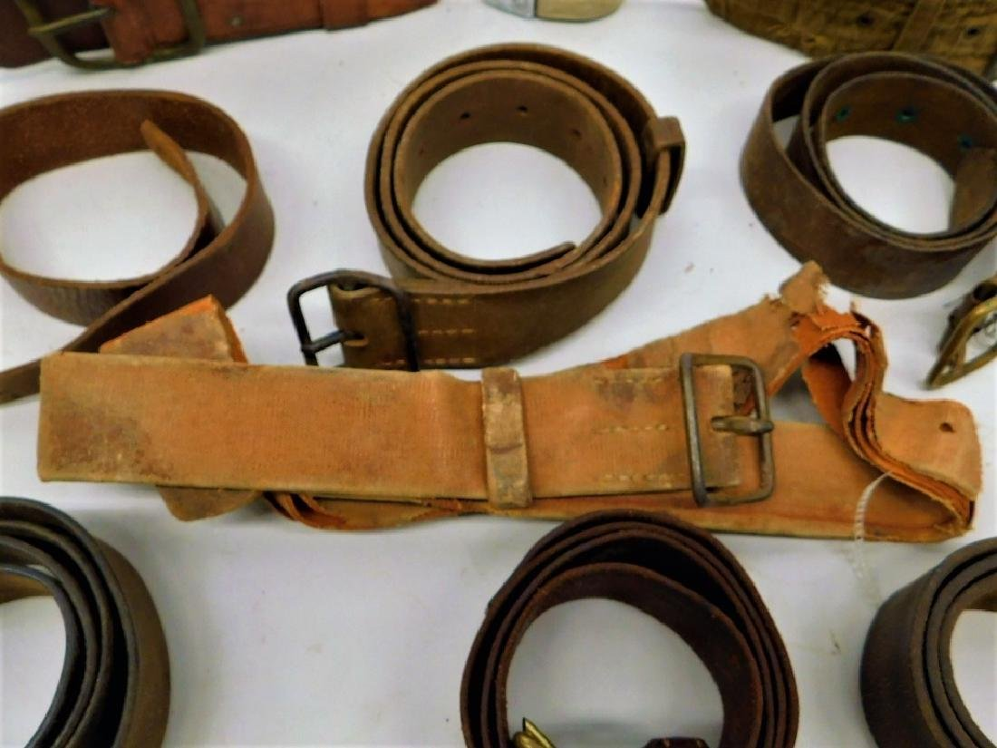 WWII Japanese Leather Belts- Navy Soft Belt - 6