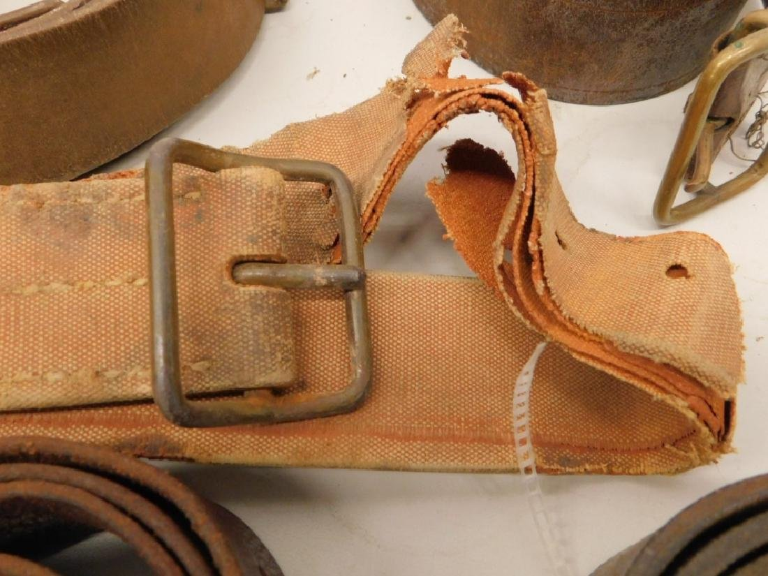 WWII Japanese Leather Belts- Navy Soft Belt - 7