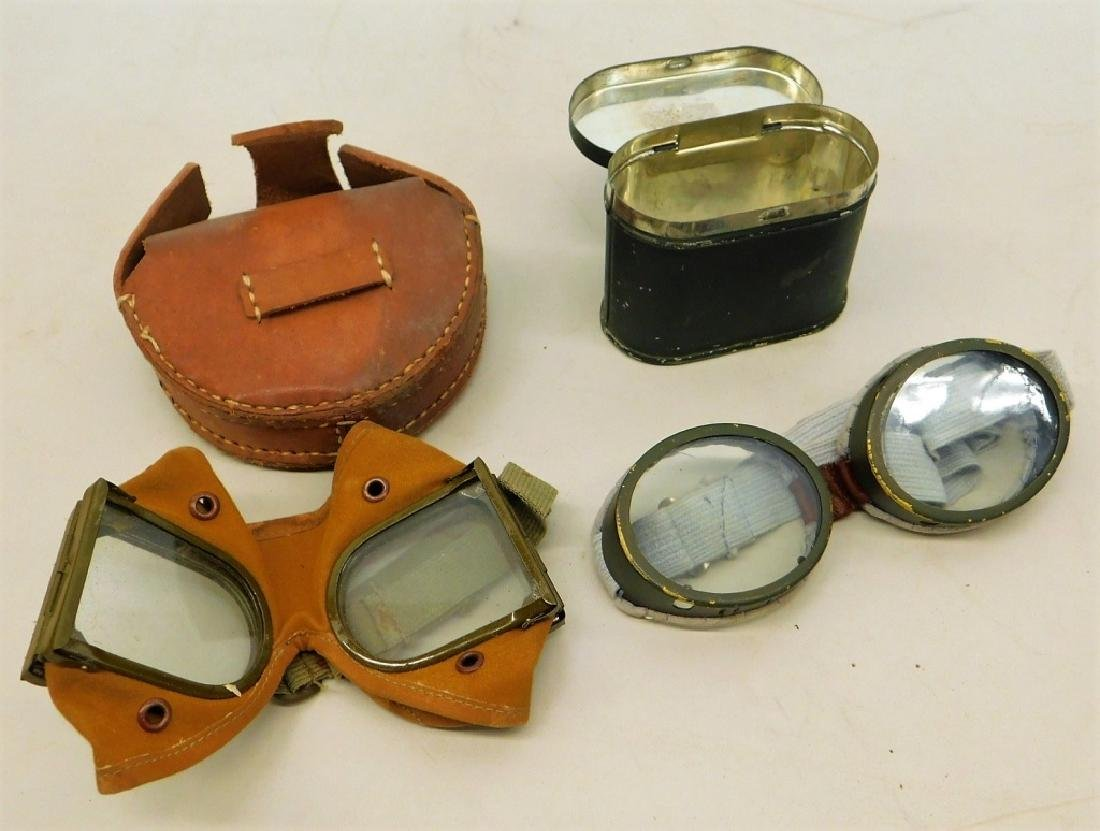 WWII Japanese Tankers Goggles & Cased Set