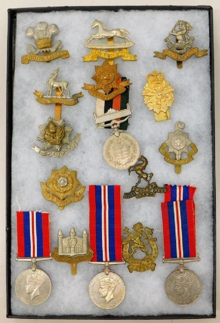 WWII - Present English Victory Medals & Cap Badges